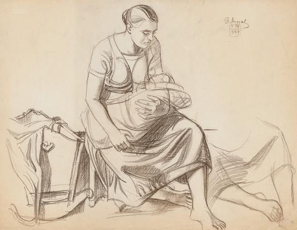Gejza Angyal - Matka s dieťaťom