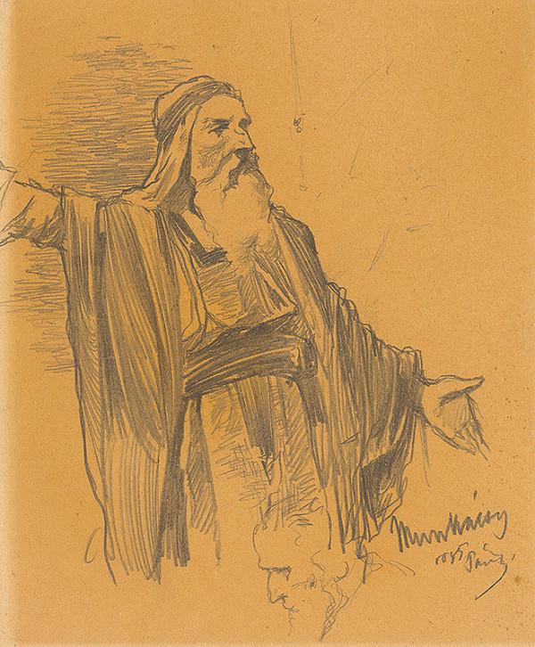 Mihály Munkácsy – Štúdia stojaceho rabína. K obrazu Kristus pred Pilátom