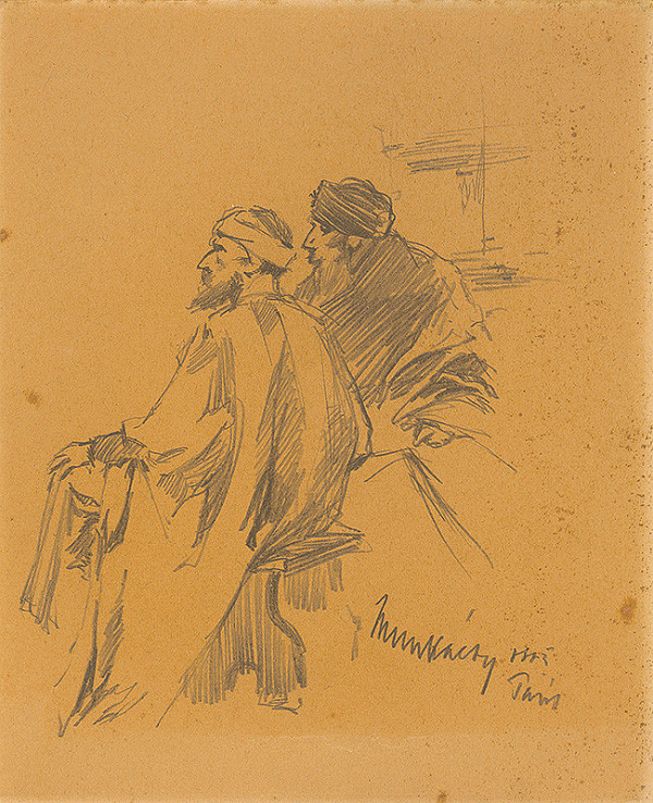 Mihály Munkácsy – Štúdia dvoch sediacich Židov. K obrazu Kristus pred Pilátom