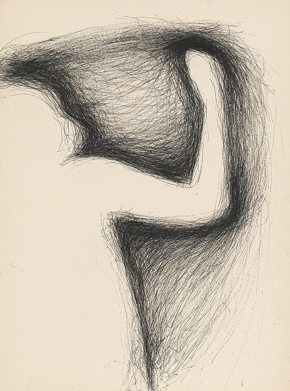 Igor Kalný – Figurálna kresba I., 1986, Slovenská národná galéria