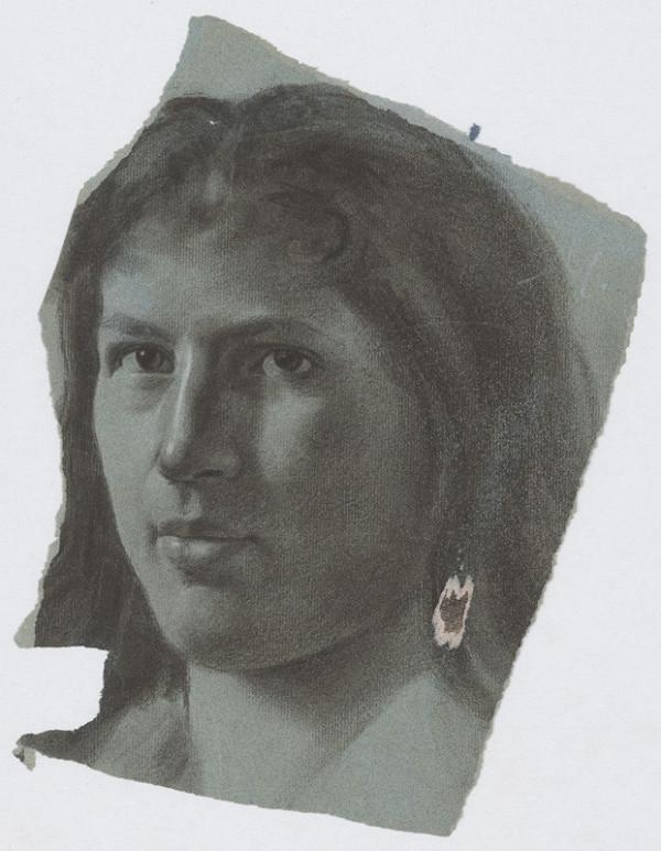 Milan Thomka Mitrovský – Štúdia ženskej hlavy s dlhými vlasmi