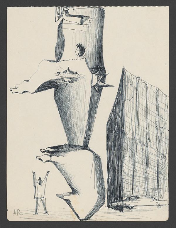 Andrej Rudavský – Kresba k plastike