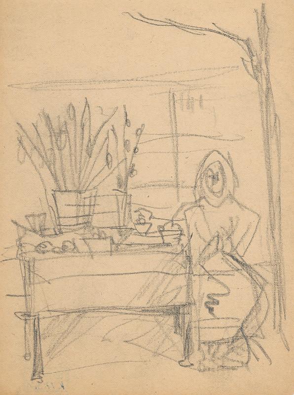 Eugen Nevan - Žena s kraslicami