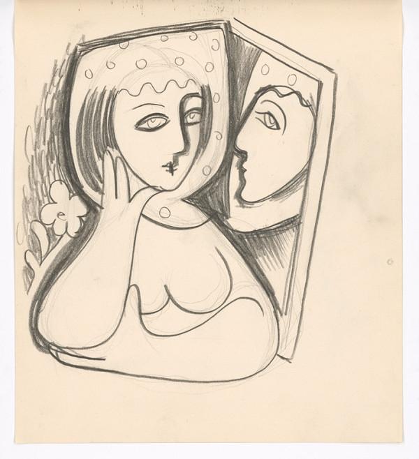 Mikuláš Galanda – Žena so zrkadlom