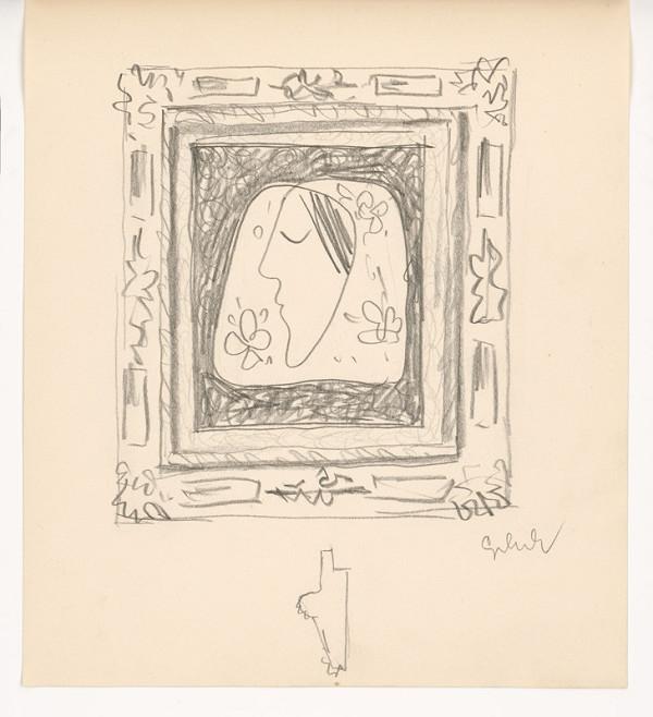 Mikuláš Galanda - Hlava ženy v ozdobnom ráme