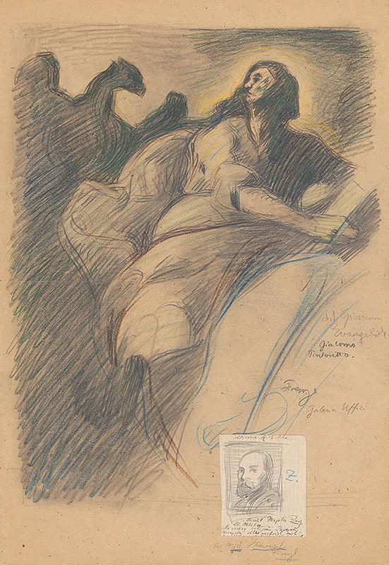 Milan Thomka Mitrovský – Sv. Ján Evanjelista - podľa Giacoma Tintoretta