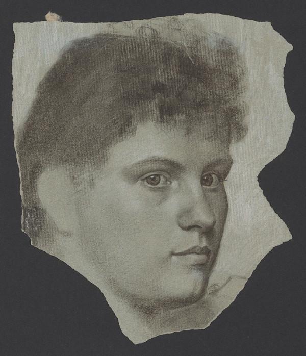 Milan Thomka Mitrovský – Portrétna štúdia ženskej hlavy