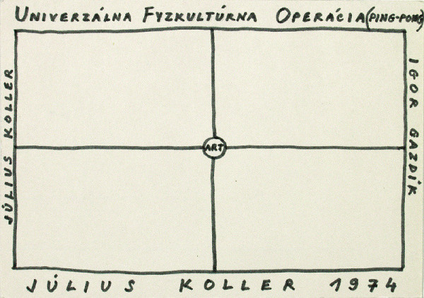 Július Koller – Univerzálna Fyzkultúrna Operácia [Ping-Pong]