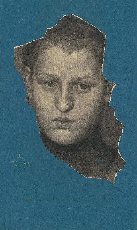 Milan Thomka Mitrovský - Portrétna štúdia nužskej hlavy