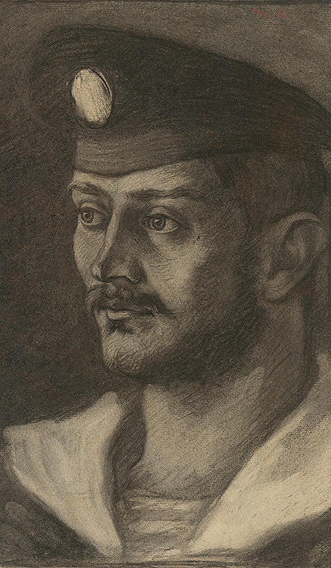 Milan Thomka Mitrovský – Portrétna štúdia hlavy námorníka