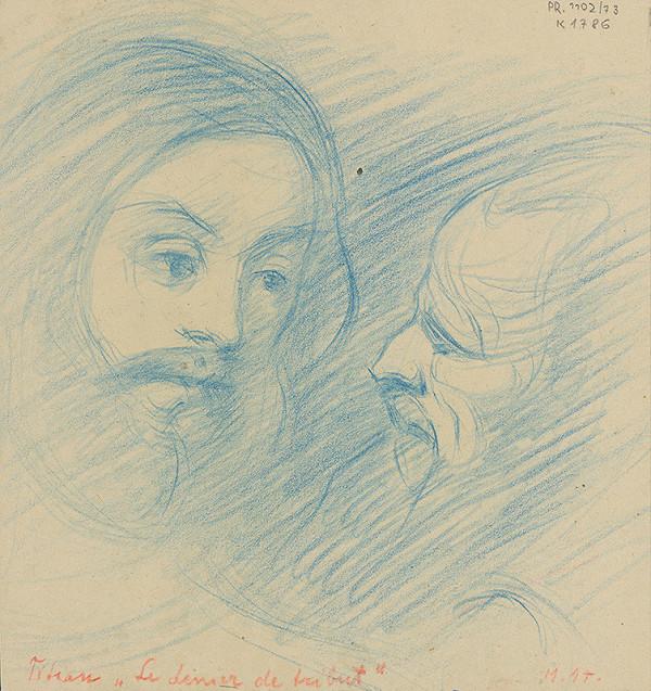 Milan Thomka Mitrovský – Dve štúdie hláv podľa Tiziana