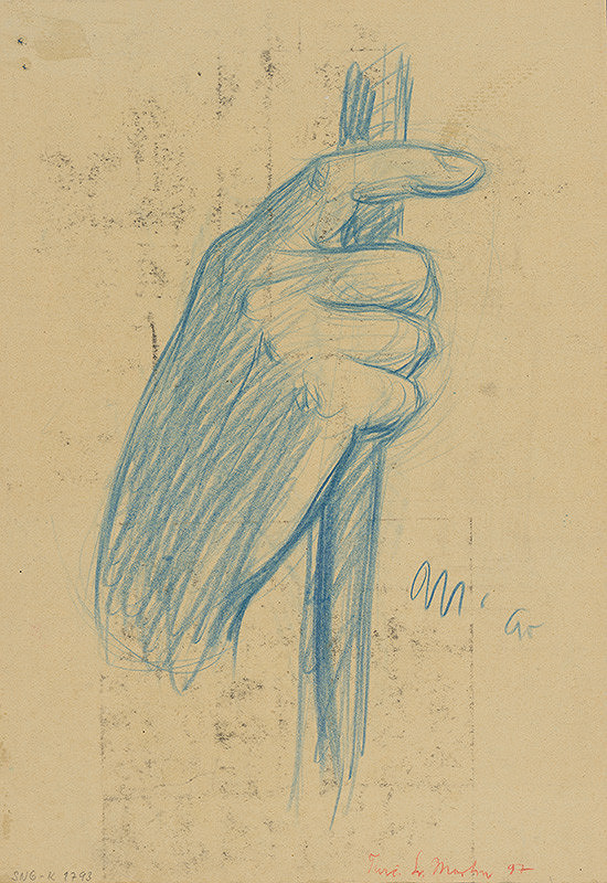 Milan Thomka Mitrovský - Štúdia pravej ruky držiacej palicu