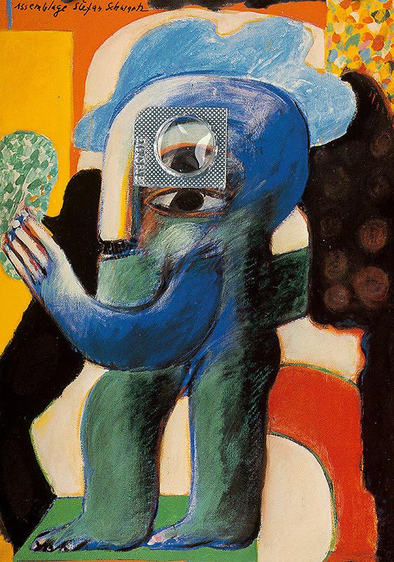 Štefan Schwartz – Horst Antes, Grüne Figur 1963 // ohne Titel