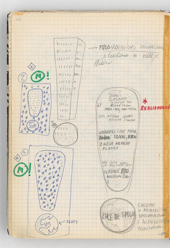 Rudolf Sikora - Konceptuálne kresby (Z cyklu Výkričník)