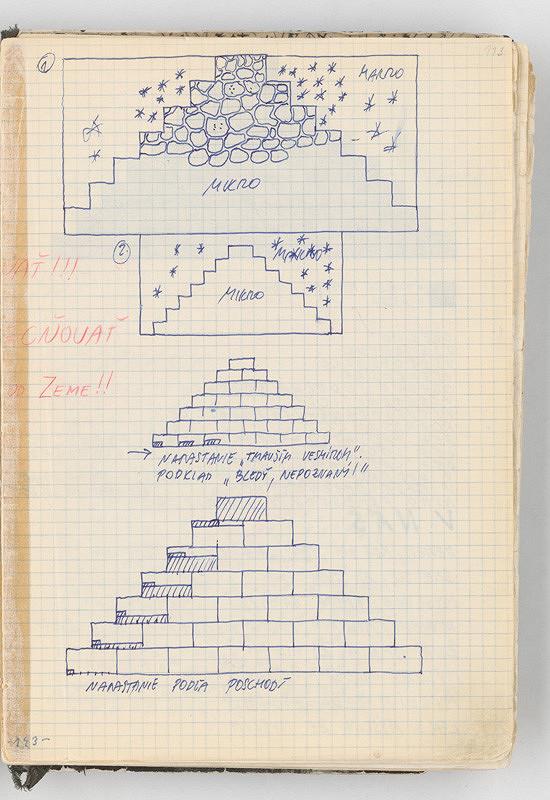 Rudolf Sikora - Konceptuálne kresby (k cyklu Pyramídy)