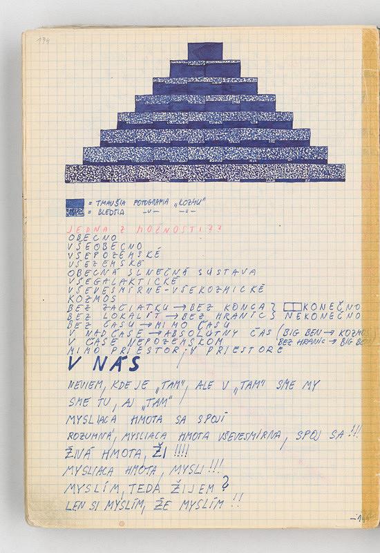 Rudolf Sikora - Konceptuálne poznámky a kresby (k cyklu Pyramídy)
