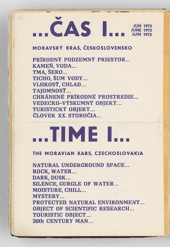 Rudolf Sikora - ...ČAS I... (karty konceptuálneho projektu)