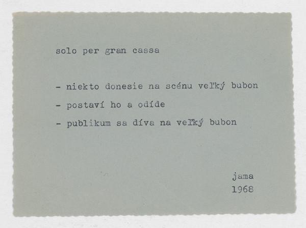 Milan Adamčiak - Solo per gran cassa 2.