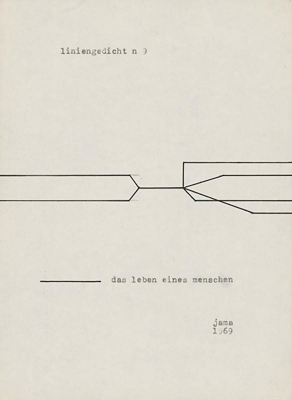 Milan Adamčiak - Liniengedicht VIII.