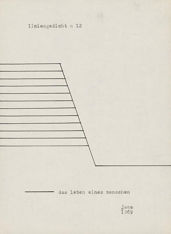 Milan Adamčiak - Liniengedicht XI.