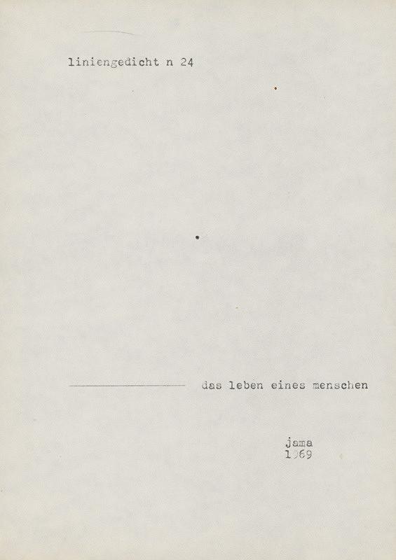 Milan Adamčiak – Liniengedicht XXIII.
