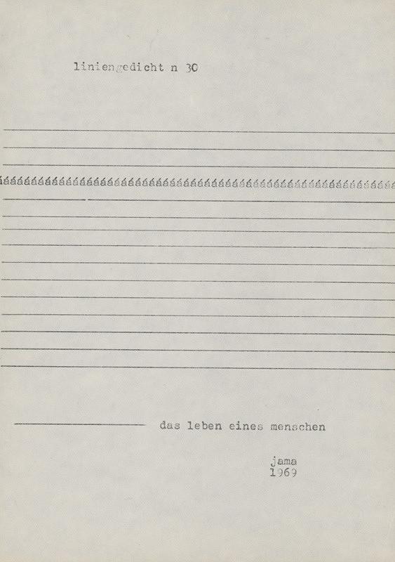 Milan Adamčiak – Liniengedicht XIX.