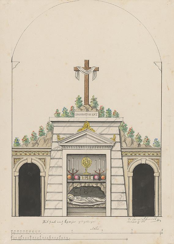 Konrád Švestka – Návrh na sv. hrob pre Prešov