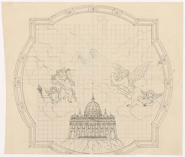 Konrád Švestka – Návrh na stropnú maľbu kostola