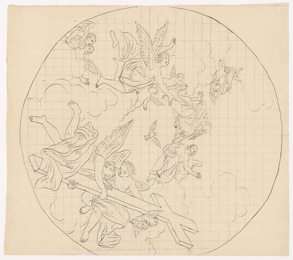 Konrád Švestka - Plán na stropnú maľbu kostola