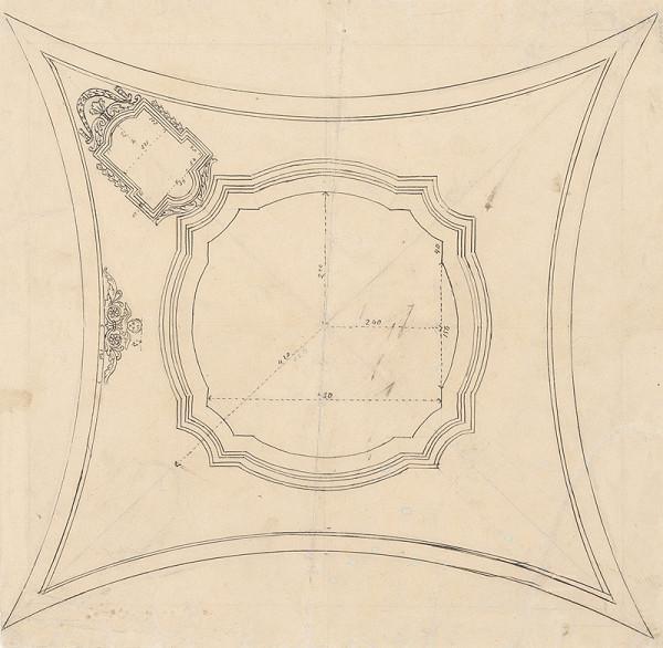 Konrád Švestka - Návrh na pole klenby - ornamentálna výzdoba
