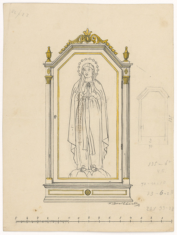 Konrád Švestka – Návrh na oltárny obraz