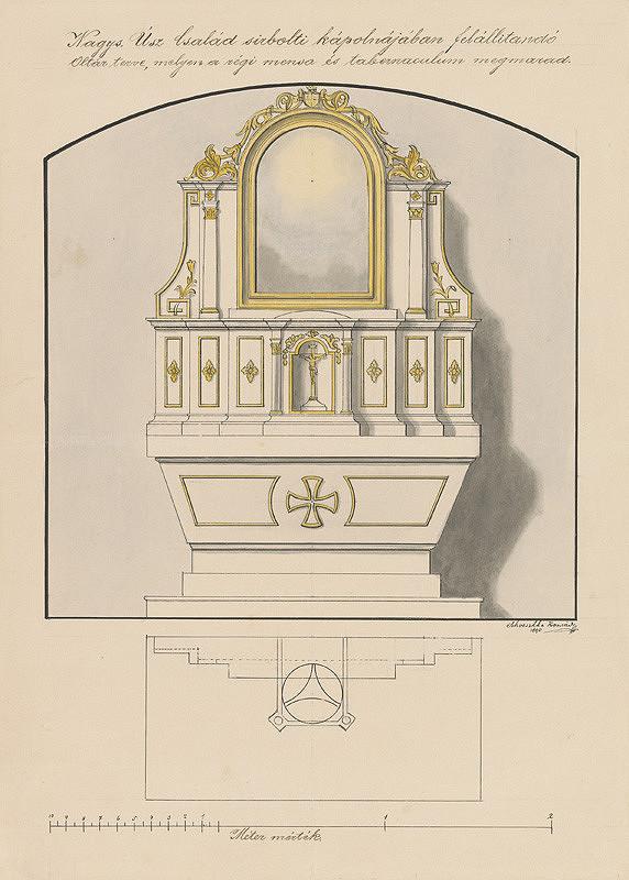Konrád Švestka – Návrh na  oltár pre kaplnku