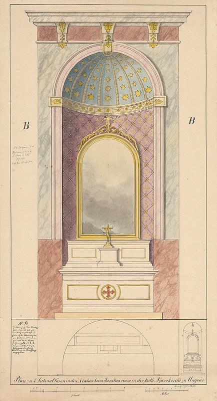 Konrád Švestka - Návrh na dva bočné oltáre vo farskom kostole v Užhorode