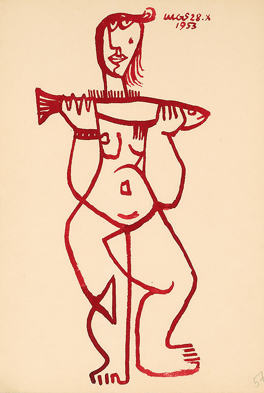 Theodor Lugs – Žena s rybou II.