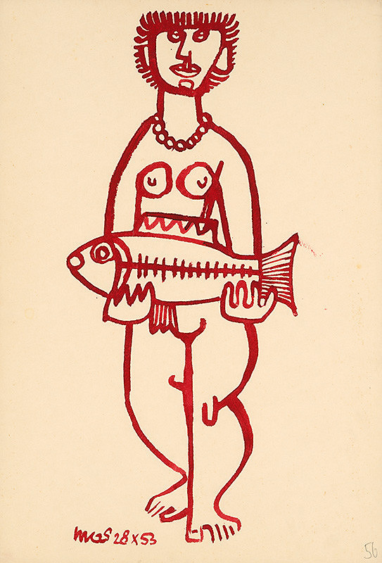 Theodor Lugs – Žena s rybou I.