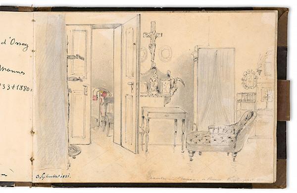 Viktor Odescalchi – Interiér salóna grófky Henriety Odescalchi vo Viedni