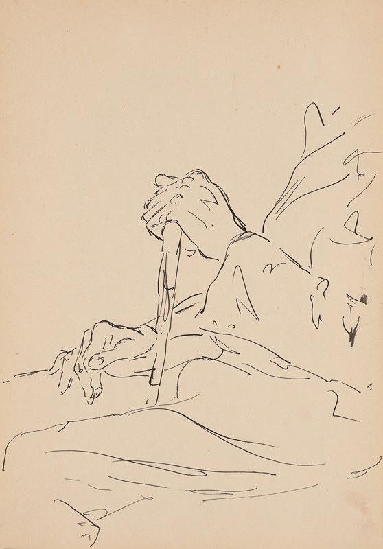 Ján Novák - Štúdia mužských rúk s palicou