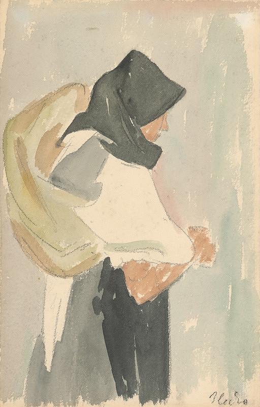 Jozef Ilečko – Žena s nošou na chrbte