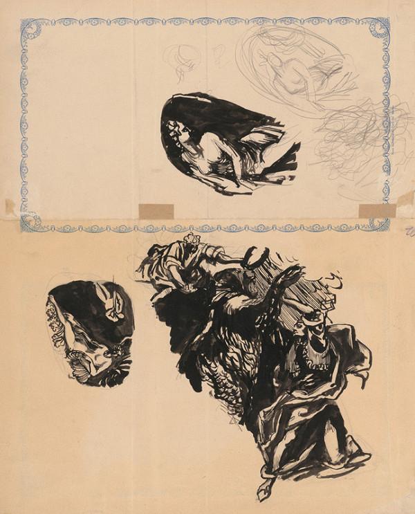 Ján Novák – Skice figurálnych kompozícií