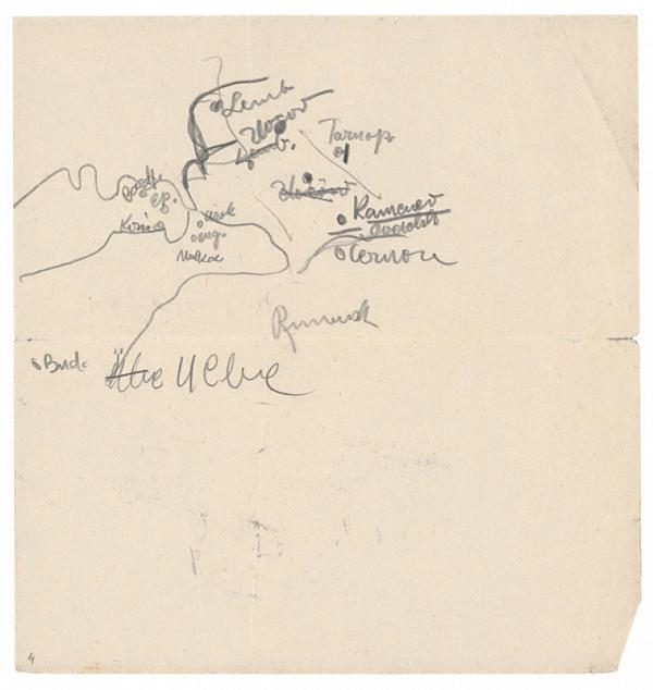 Arnold Peter Weisz-Kubínčan - Skicár 1, Mapka (voľný list)