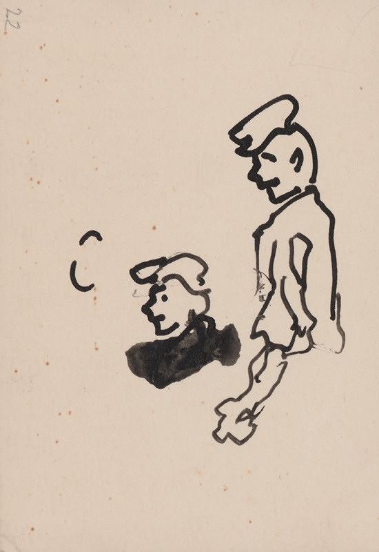 Arnold Peter Weisz-Kubínčan – Skicár 5 Postava a hlava (voľný list)