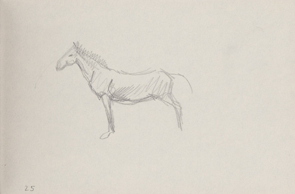 Arnold Peter Weisz-Kubínčan – Skicár 6 Kôň