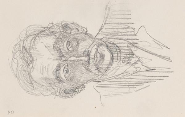 Arnold Peter Weisz-Kubínčan – Skicár 6 Portrét muža