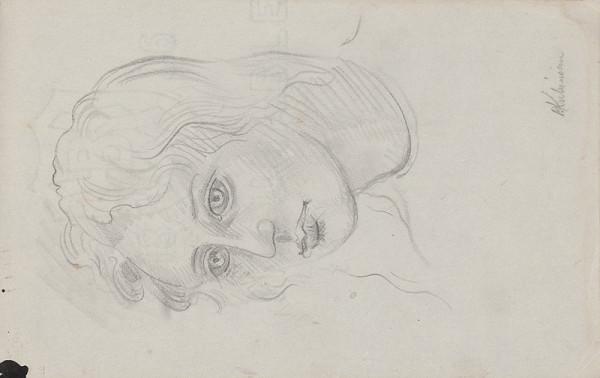 Arnold Peter Weisz-Kubínčan – Skicár 10 Portrét dievčaťa