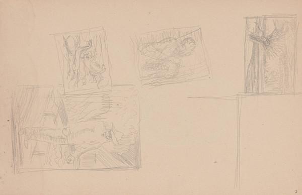 Arnold Peter Weisz-Kubínčan – Skicár 11 Rôzne skice
