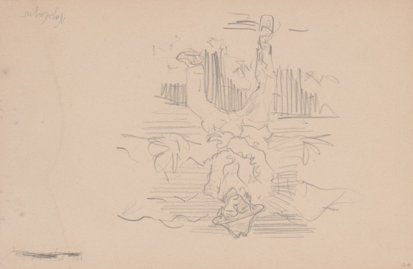 Arnold Peter Weisz-Kubínčan – Skicár 11 Muž držiaci si brucho