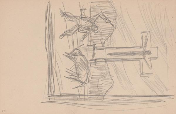 Arnold Peter Weisz-Kubínčan – Skicár 11 Muž s býkom pred krížom