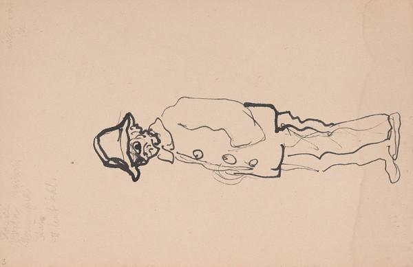 Arnold Peter Weisz-Kubínčan – Skicár 11 Postava muža