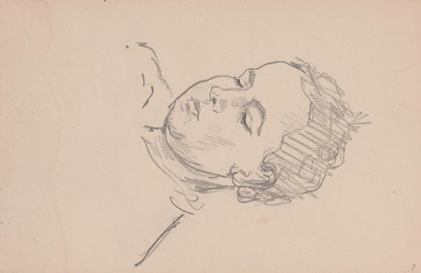 Arnold Peter Weisz-Kubínčan – Skicár 11 Dievča so zatvorenými očami