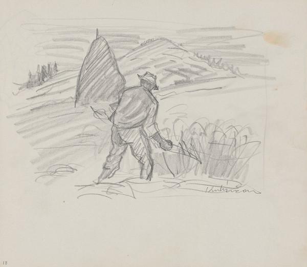 Arnold Peter Weisz-Kubínčan – Skicár 14 Kosec na poli
